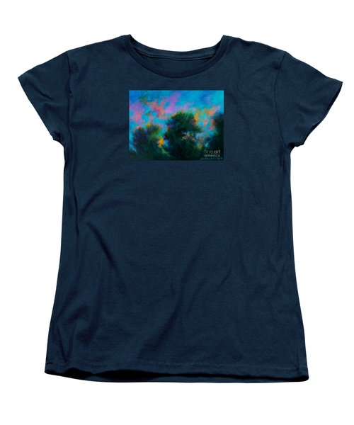 Women's T-Shirt (Standard Cut) featuring the painting Alison's Dream Time  by Alison Caltrider