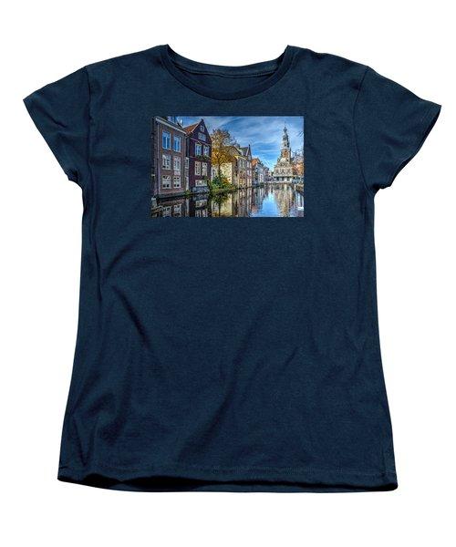 Alkmaar From The Bridge Women's T-Shirt (Standard Cut) by Frans Blok