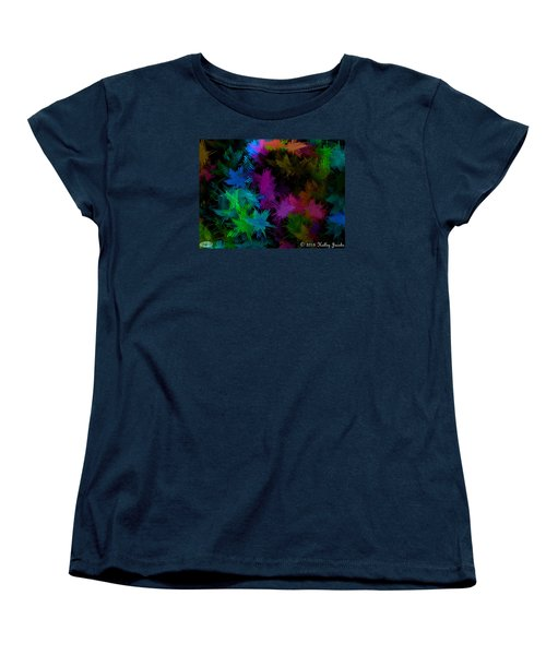 Women's T-Shirt (Standard Cut) featuring the painting All American Girl by Holley Jacobs