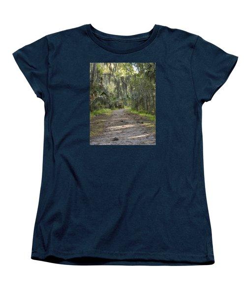 Alligator Alley Women's T-Shirt (Standard Cut) by Carol  Bradley