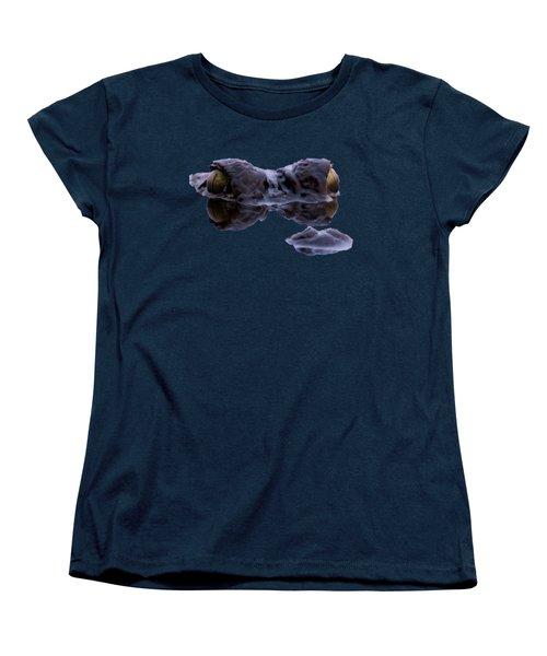 Alligator Eyes On The Foggy Lake Women's T-Shirt (Standard Cut)