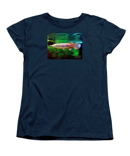 Alligator Gar Fish  Women's T-Shirt (Standard Cut) by Merton Allen