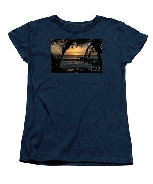 Aloha Aina The Beloved Land - Sunset Kamaole Beach Kihei Maui Hawaii Women's T-Shirt (Standard Cut) by Sharon Mau