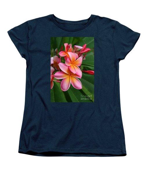 Aloha Lei Pua Melia Keanae Women's T-Shirt (Standard Cut) by Sharon Mau
