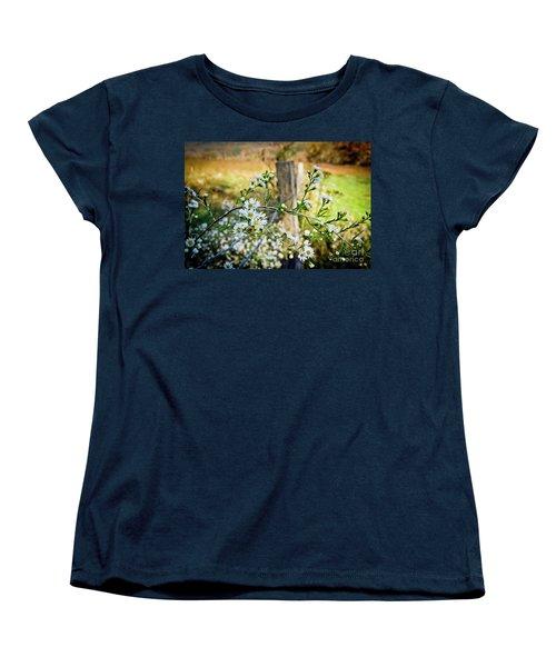 Women's T-Shirt (Standard Cut) featuring the photograph Along A Fence Row by Douglas Stucky