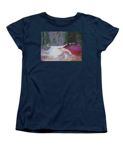 Along The 103  Women's T-Shirt (Standard Cut) by Rae  Smith PAC