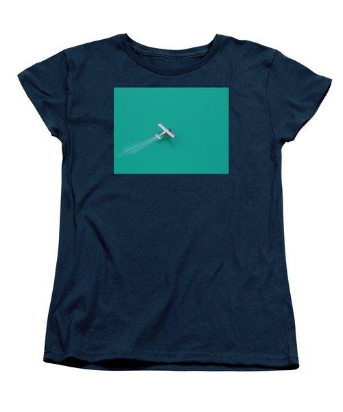 Alpine Lake Landing Women's T-Shirt (Standard Cut) by Mark Alan Perry