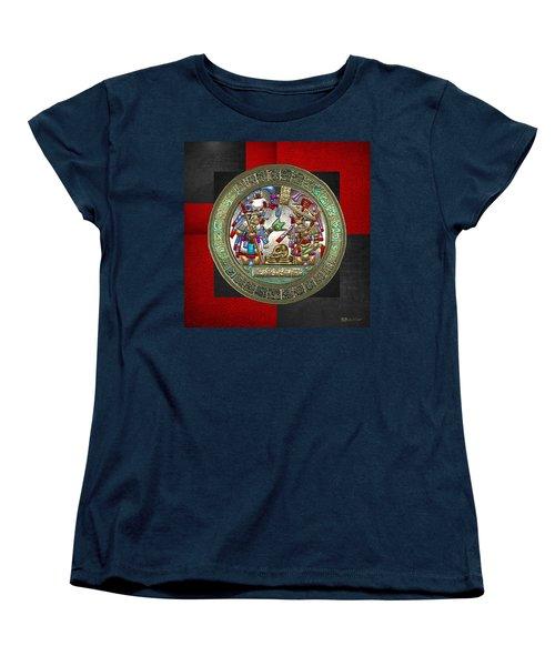 Altar 5 From Tikal Women's T-Shirt (Standard Cut) by Serge Averbukh