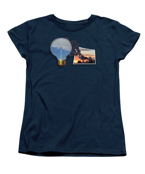 Alternative Energy Women's T-Shirt (Standard Cut) by Shane Bechler
