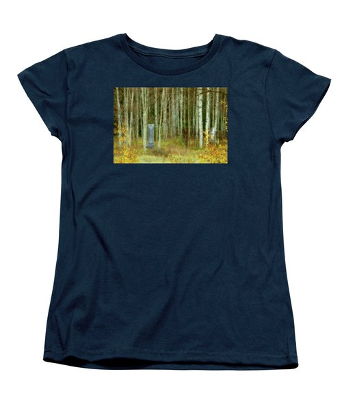 Women's T-Shirt (Standard Cut) featuring the photograph Alvarado Cemetery 41 by Marie Leslie