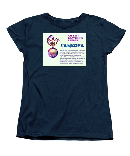 Am I My Brother's Keeper?  Villatic Women's T-Shirt (Standard Cut) by Jacqueline Lloyd