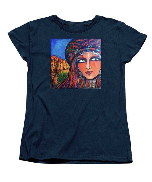 Women's T-Shirt (Standard Cut) featuring the painting Amazigh Beauty 2 by Rae Chichilnitsky