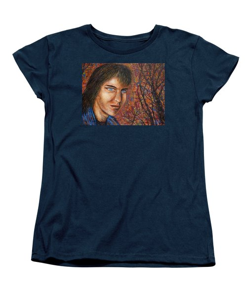 Women's T-Shirt (Standard Cut) featuring the painting Amber Glow by Natalie Holland