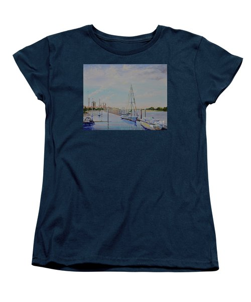 Amelia Island Port Women's T-Shirt (Standard Cut) by AnnaJo Vahle