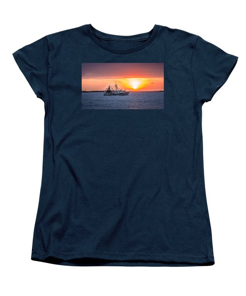 Amelia River Sunset 25 Women's T-Shirt (Standard Cut) by Rob Sellers