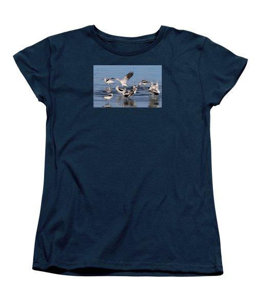 American Avocet's Taking A Break Women's T-Shirt (Standard Cut) by Dorothy Cunningham