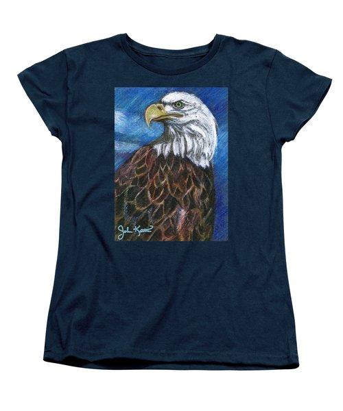 American Bald Eagle Women's T-Shirt (Standard Cut) by John Keaton
