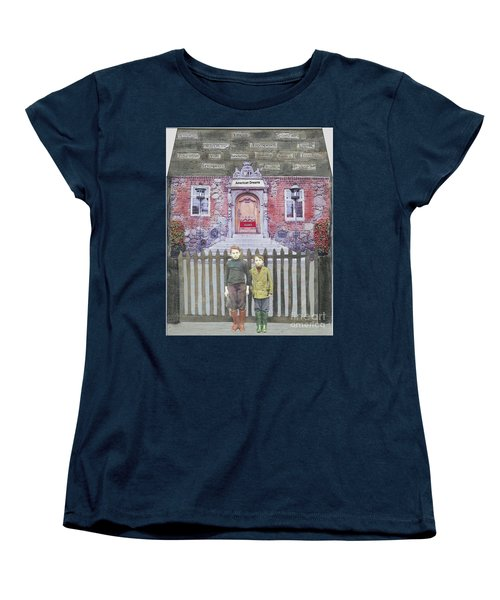 Women's T-Shirt (Standard Cut) featuring the mixed media American Dreams by Desiree Paquette