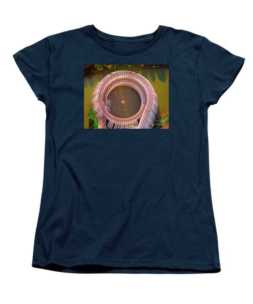 Women's T-Shirt (Standard Cut) featuring the photograph American Eagle Roller Coaster  by Tom Jelen