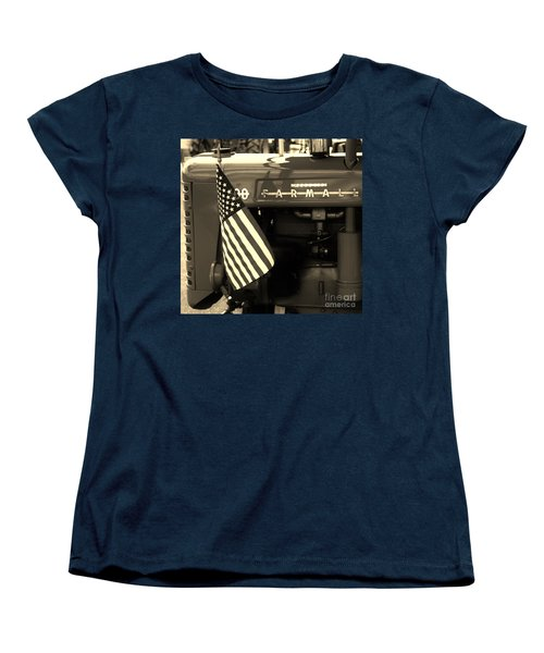 Women's T-Shirt (Standard Cut) featuring the photograph American Farmall by Meagan  Visser