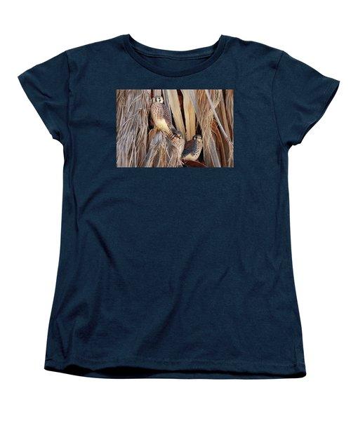 American Kestrels Women's T-Shirt (Standard Cut) by Dan Redmon