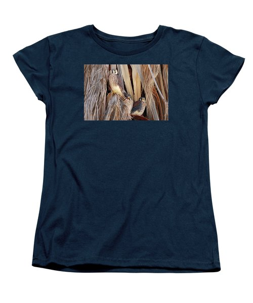 Women's T-Shirt (Standard Cut) featuring the photograph American Kestrels by Dan Redmon