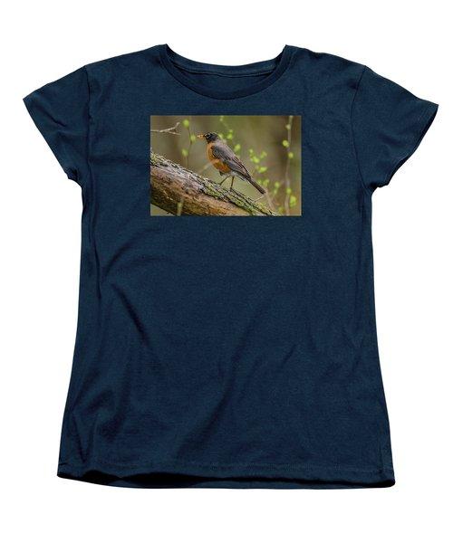 American Robin Women's T-Shirt (Standard Cut) by Ray Congrove