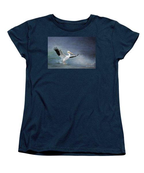 American White Pelican  Women's T-Shirt (Standard Cut) by Bonnie Barry