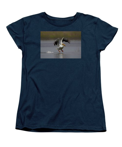 American White Pelican Da 4 Women's T-Shirt (Standard Cut) by Ernie Echols