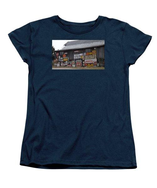 Americana Signs Women's T-Shirt (Standard Cut) by Don Koester