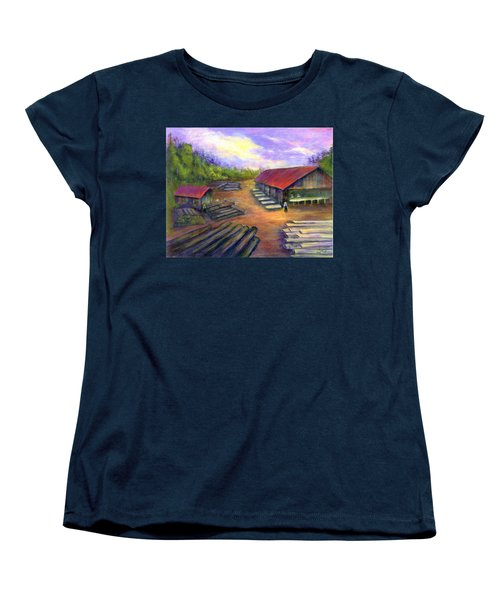 Amish Lumbermill Women's T-Shirt (Standard Cut) by Gail Kirtz
