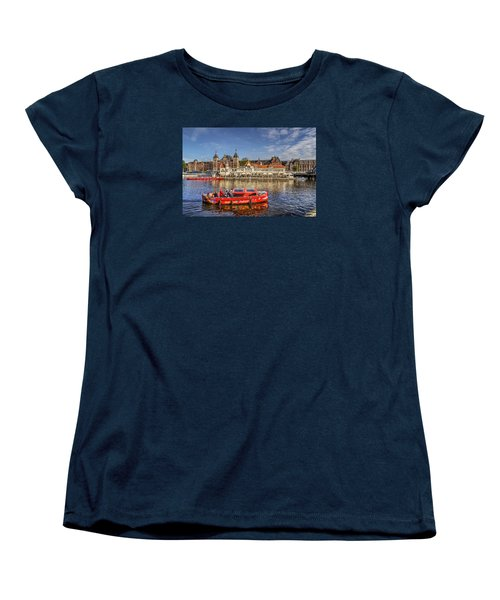 Amsterdam Waterfront Women's T-Shirt (Standard Cut) by Uri Baruch