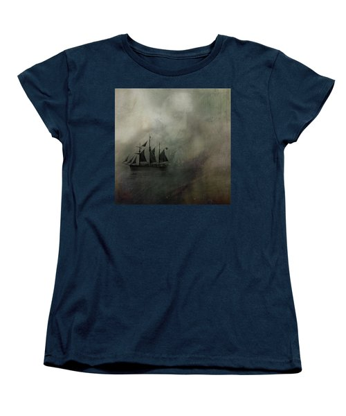 Women's T-Shirt (Standard Cut) featuring the digital art Amundsen And Fram by Andy Walsh
