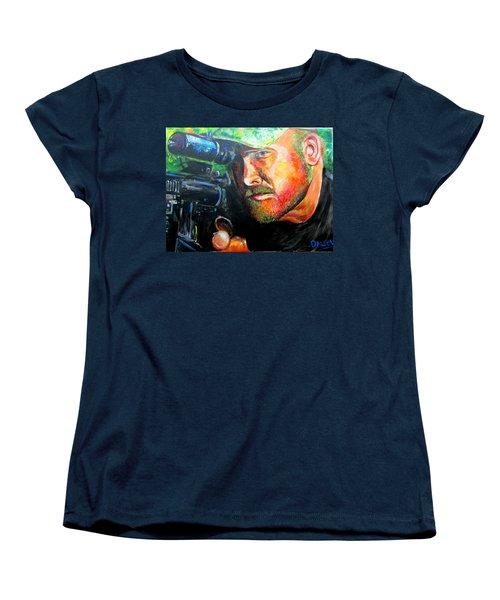 An American Hero Women's T-Shirt (Standard Cut) by Ken Pridgeon