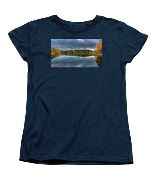 An Autumn Evening At The Lake Women's T-Shirt (Standard Cut) by Andreas Levi