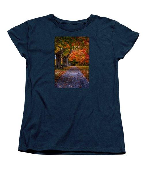 An Autumn Walk Women's T-Shirt (Standard Cut) by Tricia Marchlik