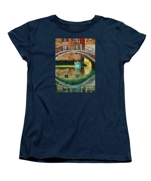 An Early Morning In Venice Women's T-Shirt (Standard Cut) by Dragica  Micki Fortuna
