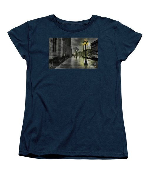 Women's T-Shirt (Standard Cut) featuring the mixed media An Evening In Paris by Jim  Hatch