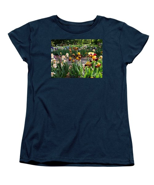 An Iris Party Women's T-Shirt (Standard Cut) by Nancy Kane Chapman