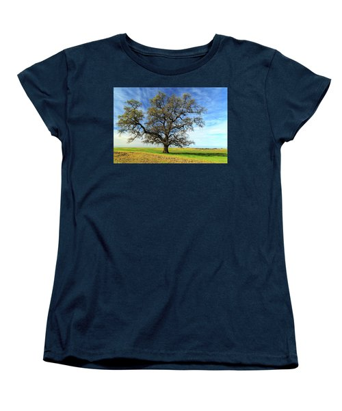 Women's T-Shirt (Standard Cut) featuring the photograph An Oak In Spring by James Eddy