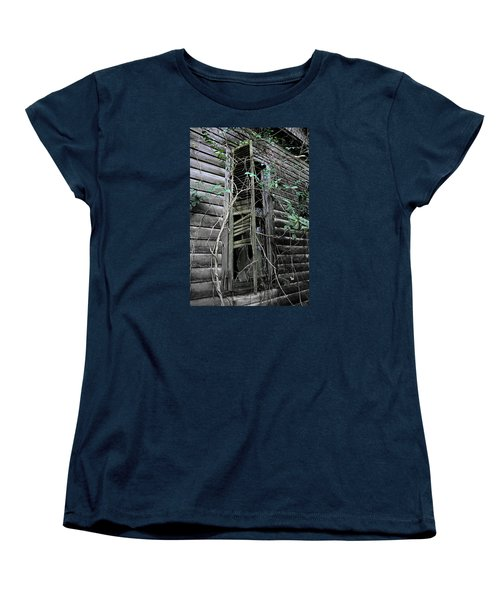 An Old Shuttered Window Women's T-Shirt (Standard Cut) by Lynn Jordan