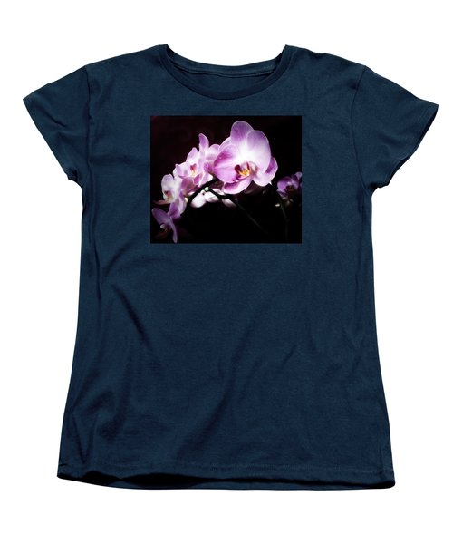 Women's T-Shirt (Standard Cut) featuring the mixed media An Orchid For You by Gabriella Weninger - David