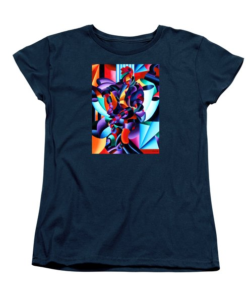 Women's T-Shirt (Standard Cut) featuring the painting Anamorphosis From The Outside In by Mark Webster