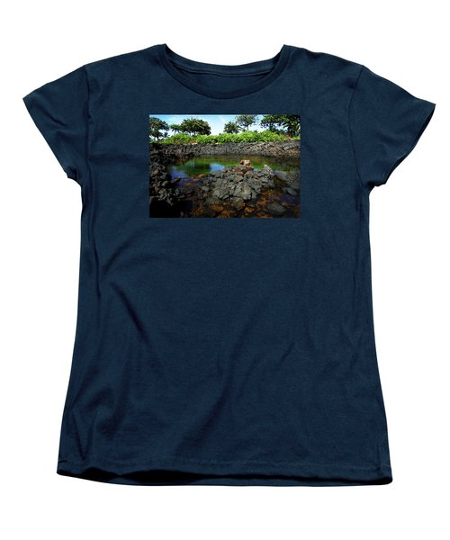 Women's T-Shirt (Standard Cut) featuring the photograph Anchialine Pond by Anthony Jones