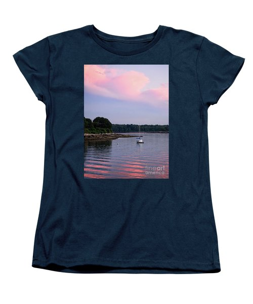 Anchored At Peaks Island, Maine  -07828 Women's T-Shirt (Standard Cut)