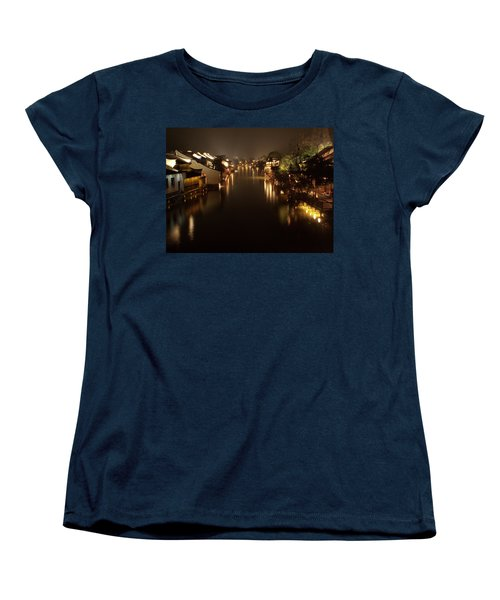 Ancient Chinese Water Town Women's T-Shirt (Standard Cut) by Andrew Soundarajan
