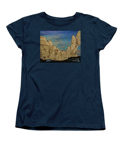 Women's T-Shirt (Standard Cut) featuring the painting Ancient Clouds by Stuart Engel