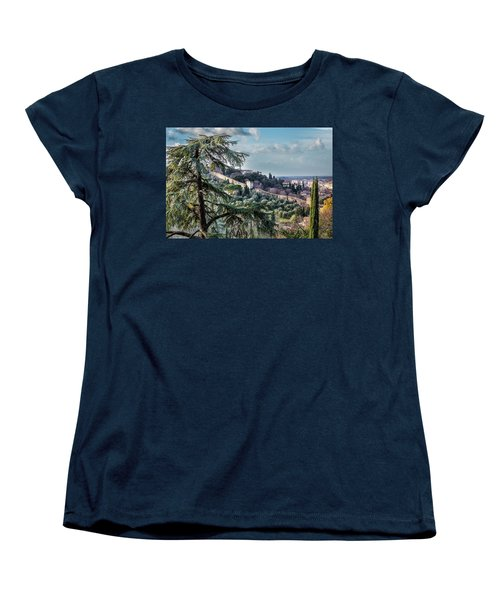 Women's T-Shirt (Standard Cut) featuring the photograph Ancient Walls Of Florence by Sonny Marcyan