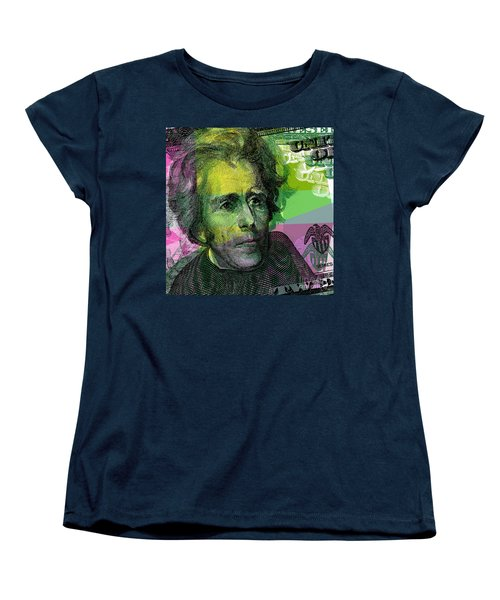 Women's T-Shirt (Standard Cut) featuring the digital art Andrew Jackson - $20 Bill by Jean luc Comperat