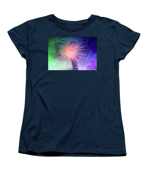 Women's T-Shirt (Standard Cut) featuring the photograph Anemone Color by Anthony Jones